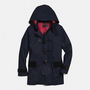 Coach Navy NWT Mac Duffle Zip Up Hooded Coat